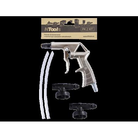 Pistolet pour projection anti-gravillon / predator avec set de pulvérisation remplaçable