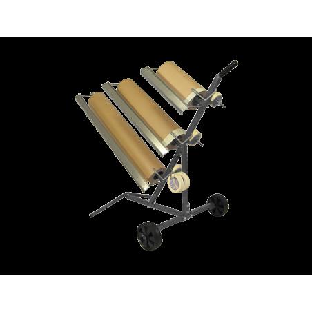 Support pour 3 rouleaux de papier Kraft 30cm  60cm et 90cm