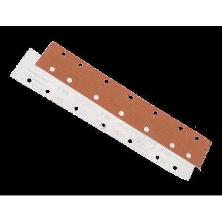 Bande abrasive 70mm X 420mm sur velcro 14 trous