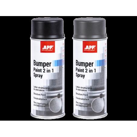 Spray peinture structurante pour  plastique 400ml noir / gris