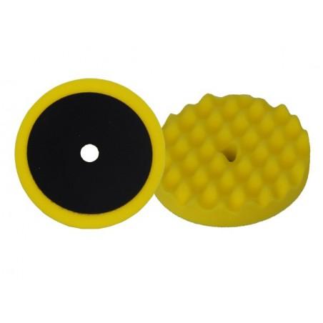 Mousse de polissage profile ondulé d180 / Velcro - jaune - universel