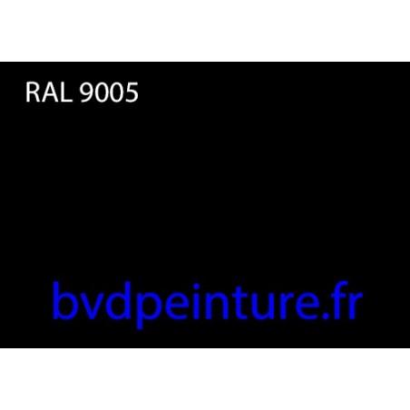 1l noir brillant direct ral 9005 + 0,5l durcisseur  carrosserie auto moto